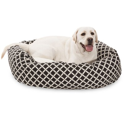 Bamboo Sherpa Bagel Pet Bed Size: Large (40 W x 29 D), Color: Black