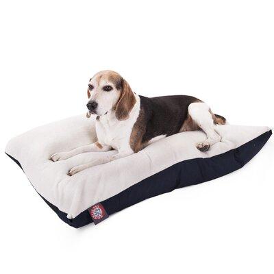 "Rectangular Dog Pillow Color: Blue, Size: Medium (40"" L x 30"" W)"