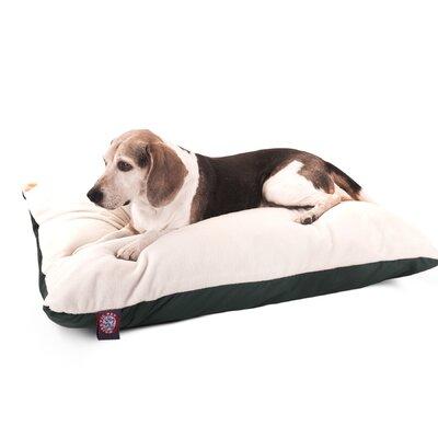 """Rectangular Dog Pillow Color: Green, Size: Medium (40"""" L x 30"""" W)"""