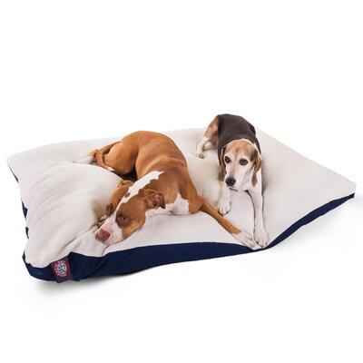 "Rectangular Dog Pillow Color: Blue, Size: Extra Large (60"" L x 42"" W)"