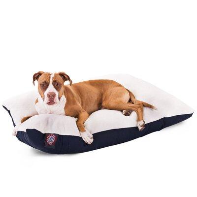 "Rectangular Dog Pillow Color: Blue, Size: Large (48"" L x 36"" W)"