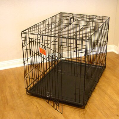 Single Door Folding Pet Crate Size: Small (21 H x 18 W x 24 L)