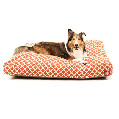 Sage Pet Bed Color: Burnt Orange, Size: Medium (44 W x 36 D)