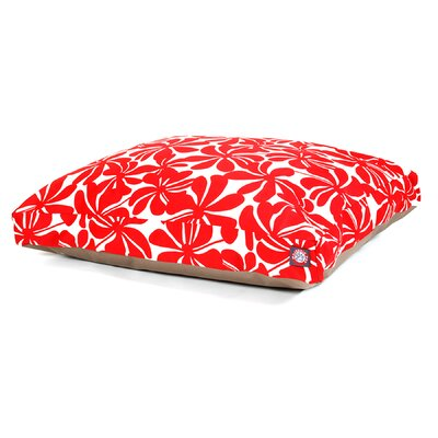 Cabana Indoor/Outdoor Pet Bed Size: Medium (44 L x 36 W), Color: Red
