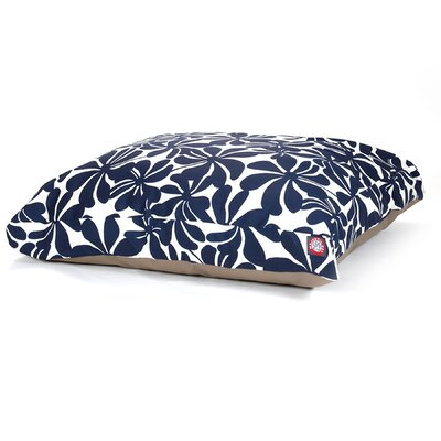Cabana Indoor/Outdoor Pet Bed Size: Medium (44 L x 36 W), Color: Navy Blue