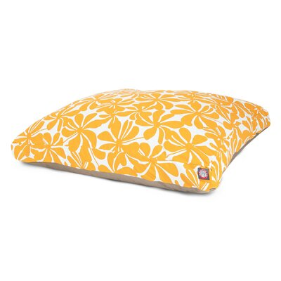 "Plantation Rectangle Dog Pillow Size: Small (36"" L x 29"" W), Color: Yellow"
