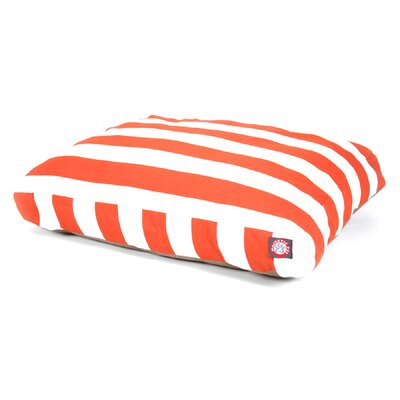 "Vertical Strip Rectangle Dog Pillow Size: Small (36"" L x 29"" W), Color: Burnt Orange"