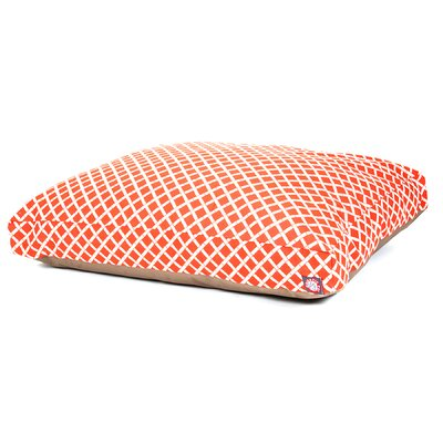 Sage Pet Bed Size: Medium (44 W x 36 D), Color: Burnt Orange