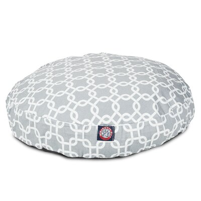 Links Round Pet Bed Size: Small (30 W x 30 W), Color: Gray