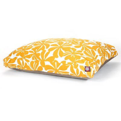 Cabana Indoor/Outdoor Pet Bed Size: Medium (44 L x 36 W), Color: Yellow