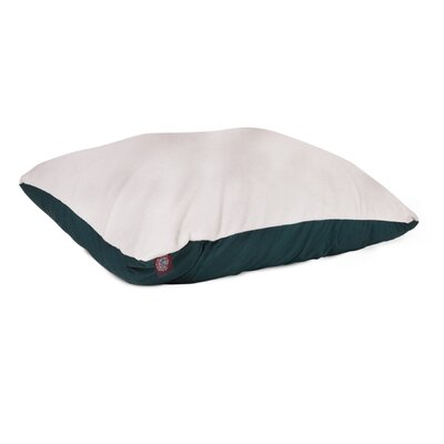 Rory Pillow Pet Bed Color: Green, Size: Medium (26 H x 35 W)