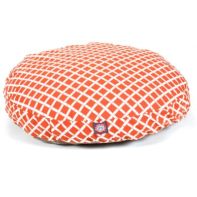 Bamboo Round Pet Bed Color: Burnt Orange, Size: Medium (36 L x 36 W)