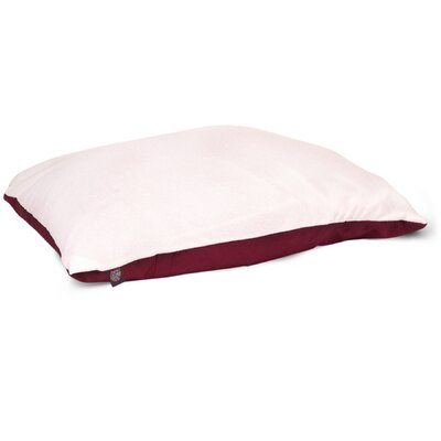 Rory Pillow Pet Bed Color: Burgundy, Size: Large (48 H x 36 W)