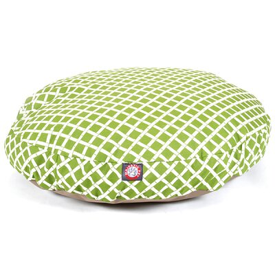 Bamboo Round Pet Bed Color: Sage, Size: Medium (36 L x 36 W)