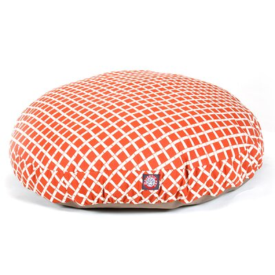 Bamboo Round Pet Bed Size: Small (30 L x 30 W), Color: Burnt Orange