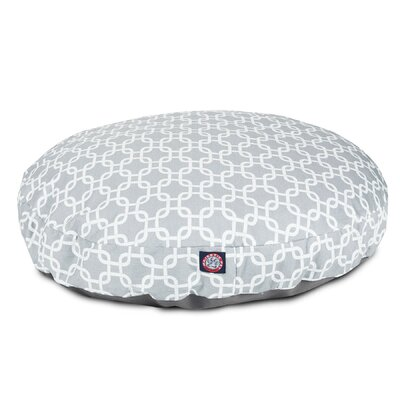 Links Round Pet Bed Size: Large (42 W x 42 W), Color: Gray