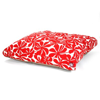 "Plantation Rectangle Dog Pillow Size: Large (50"" L x 42"" W), Color: Red"