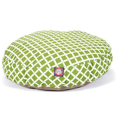 Bamboo Round Pet Bed Size: Small (30 L x 30 W), Color: Sage