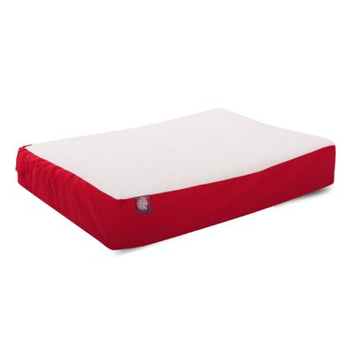Orthopedic Double Pet Pillow Color: Red, Size: Medium (34 L x 24 W)