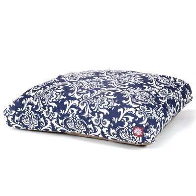 French Quarter Rectangle Pet Bed Size: Large (50 W x 42 D), Color: Navy Blue