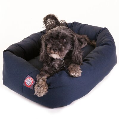 Bagel Donut Dog Bed Size: Large (40 L x 31 W), Color: Blue