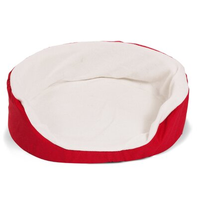 Lounger Orthopedic Nest Pillow Dog Bed Color: Red, Size: Medium (28 L x 21 W)