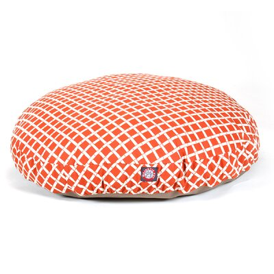 Bamboo Round Pet Bed Size: Large (42 L x 42 W), Color: Burnt Orange