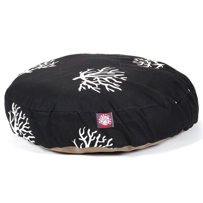 Coral Round Pet Bed Pillow Size: Small (30 L x 30 W), Color: Black
