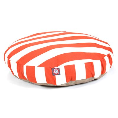 Vertical Stripe Round Pet Bed Size: Medium (36 W x 36 D), Color: Burnt Orange
