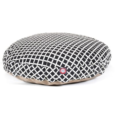 Bamboo Round Pet Bed Size: Small (30 L x 30 W), Color: Black
