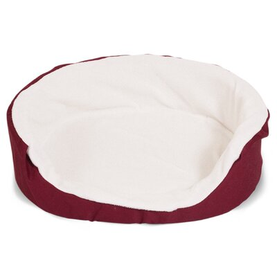 Lounger Orthopedic Nest Pillow Dog Bed Color: Burgundy, Size: Medium (28 L x 21 W)