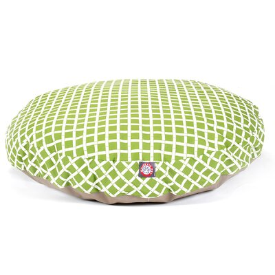 Bamboo Round Pet Bed Size: Large (42 L x 42 W), Color: Sage