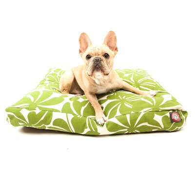 "Plantation Rectangle Dog Pillow Size: Small (36"" L x 29"" W), Color: Red"