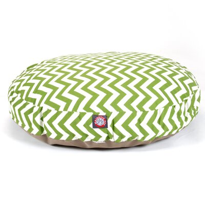 "Zig Zag Round Dog Pillow Size: Medium (36"" L x 36"" W), Color: Sage"