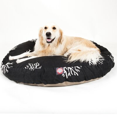 Coral Round Pet Bed Pillow Size: Large (42 L x 42 W), Color: Black