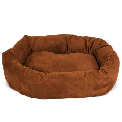 Bagel Donut Dog Bed Size: Medium (7 H x 28 W), Color: Rust