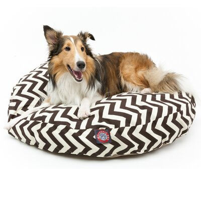 "Zig Zag Round Dog Pillow Size: Medium (36"" L x 36"" W), Color: Chocolate"