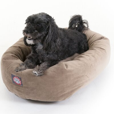 """Bagel Donut Dog Bed Color: Stone, Size: Small (24"""" L x 22"""" W)"""