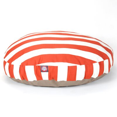 Vertical Stripe Round Pet Bed Size: Large (42 W x 42 D), Color: Burnt Orange