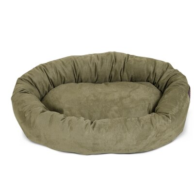 Bagel Donut Dog Bed Size: Small (7 H x 22 W), Color: Sage
