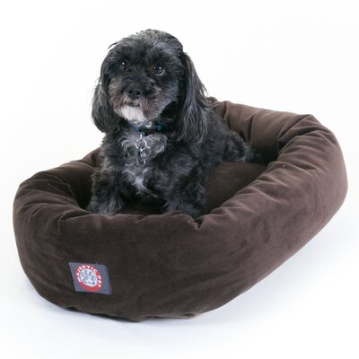 "Bagel Donut Dog Bed Color: Chocolate, Size: Small (24"" L x 22"" W)"