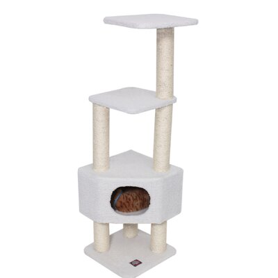 Furniture-Majestic Pet 52 Bungalow Sherpa Cat Tree