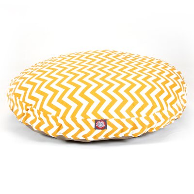 """Zig Zag Round Dog Pillow Size: Large (42"""" L x 42"""" W), Color: Yellow"""