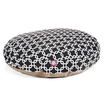 "Links Round Dog Pillow Size: Large (42"" L x 42"" W), Color: Black"