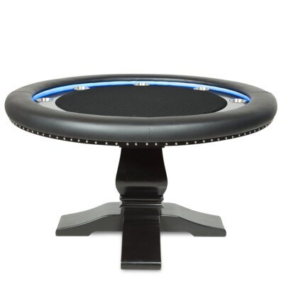 "58"" Velveteen Ginza LED Poker Table BBOGINZA-TOP-SSBLK"