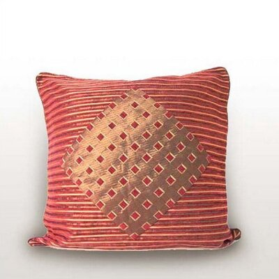 Stripes & Diamonds Cranberry/Bronze Pillow Shell