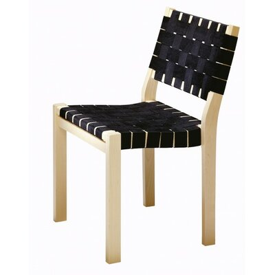 Low Price Artek Side Chair 611 Upholstery: Black