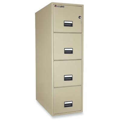 4 Drawer Letter Fireproof Key Lock File Safe