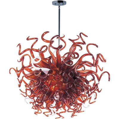 Taurus 18 Light Pendant Shade Color: Root Beer