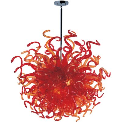 Taurus 18 Light Pendant Shade Color: Sunrise